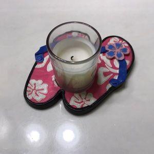 Flip flop candle holder